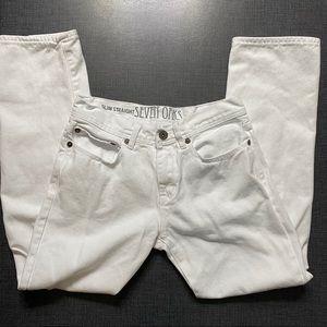 ☀️ Seven Oaks Slim Straight White Denim Jeans - 30